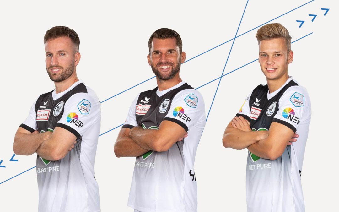 Neue Verträge für drei Spieler